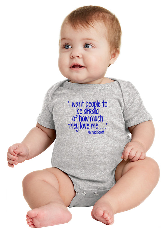 Michael Scott Love Quote Baby Bodysuit inspired by The Office