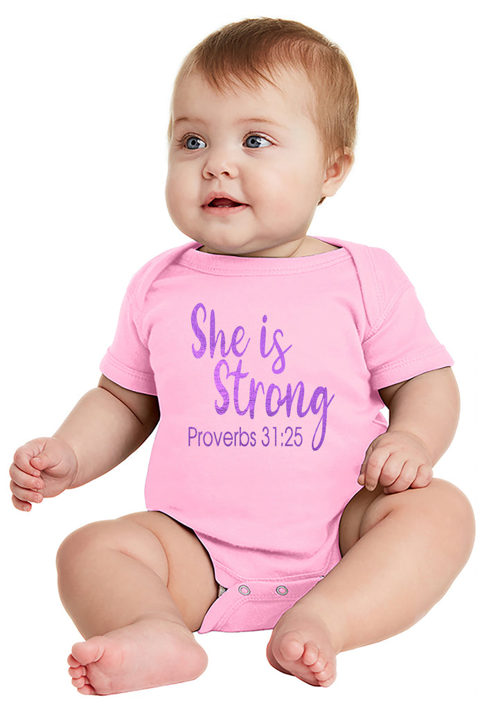 She is Strong - Baby Bodysuit