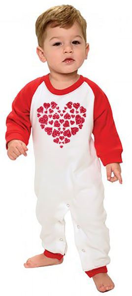 Glitter Heart Infant Romper
