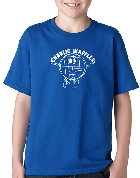 Charlie  Waffles Youth T-shirt Hoodie Inspired by Two and a Half Men TV