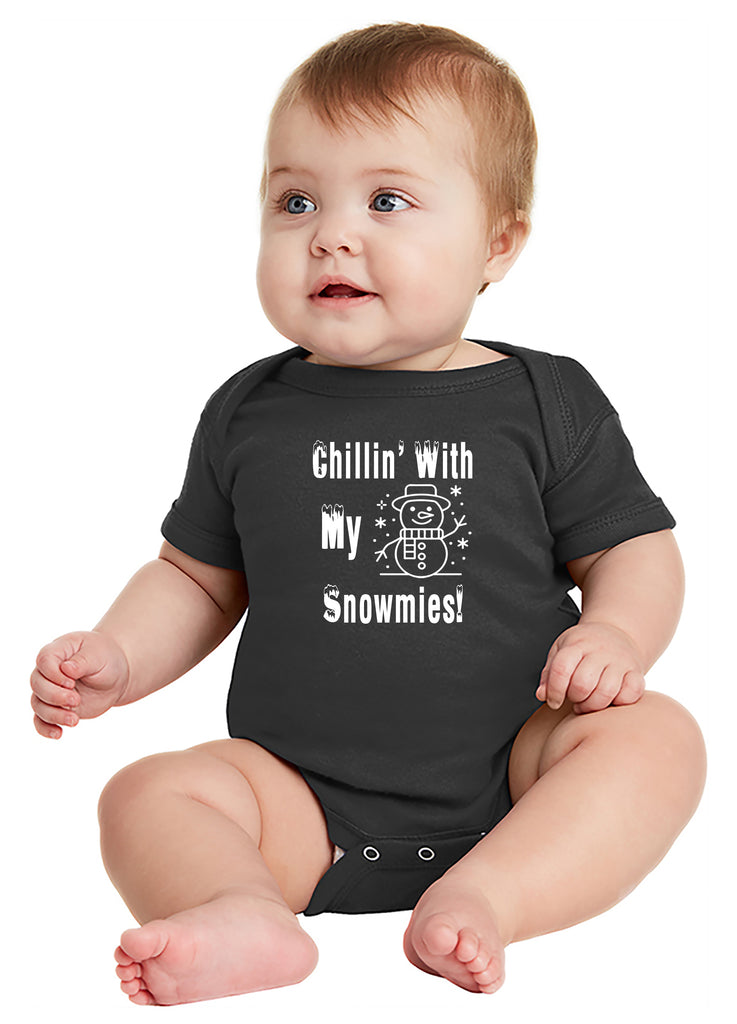 Chillin' with my Snowmies Baby Bodysuit