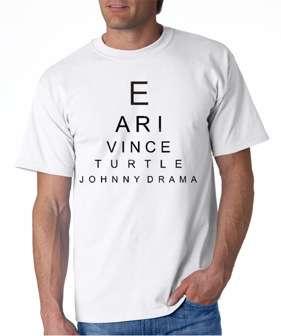 Entourage Eye Chart t-shirt