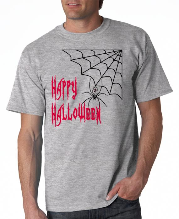 Happy Halloween Spider Web T-Shirt