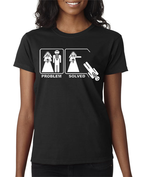 Problem Solved Bride Wedding Divorce T-shirt
