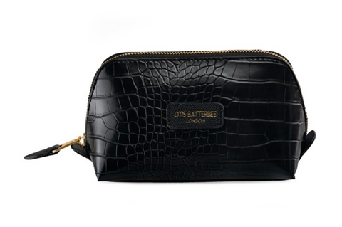 Downshire S Make Up Bag Black Croc