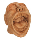 Laughing Face Mango Wood Natural