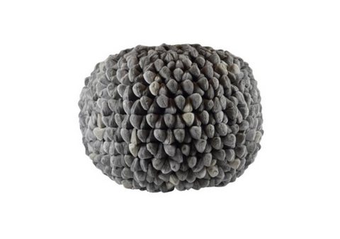 Poof Round Penthouse Pebble Ash Grey
