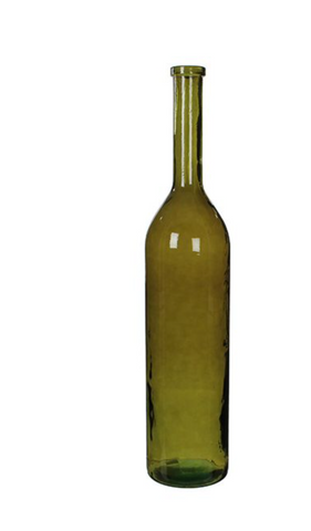 RIOJA BOTTLE GLASS GREEN - H100XD21CM
