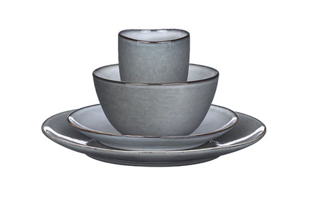 TABO DINNERWARE SET GREY 16 PIECES