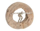 j-line - Figure Jumping Wood/Aluminium Natural/Silver