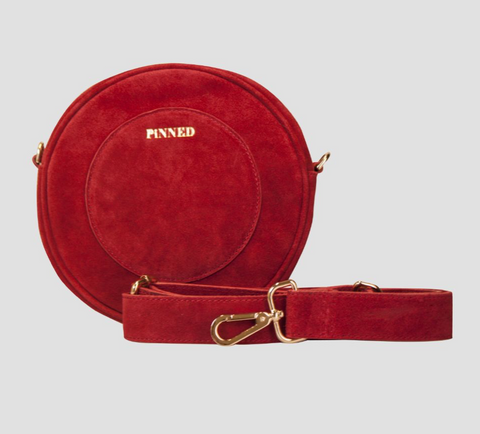 *ROUNDY BAG VICKY SUEDE RED