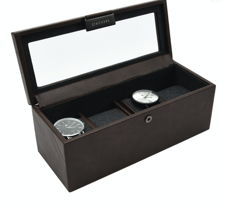 *Stackers - 4-Watch Box Brown