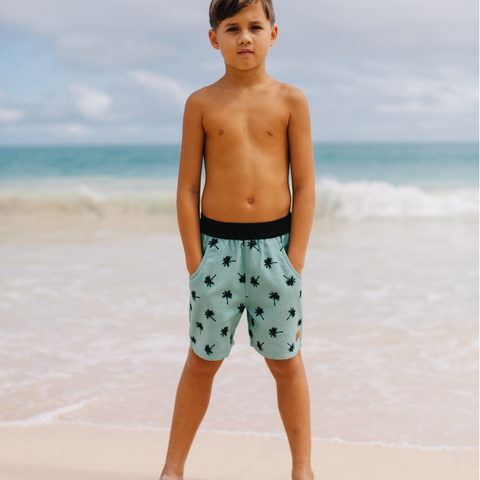Island State Co - Paradiso Boardshort - Deep Aqua - Groms HQ