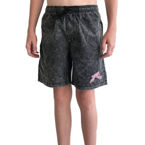 Rusty Boys Bedrock Elastic Short - Black - Groms HQ