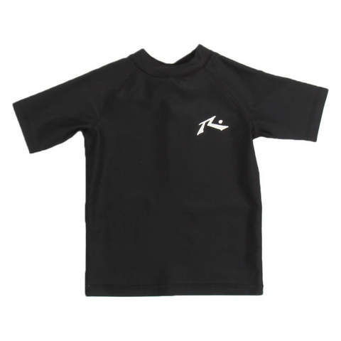 Rusty Tots Competition Short Sleeve Rashie - Black - Groms HQ