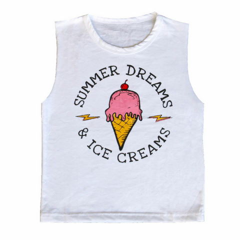Brave & Fearless - Summer Dreams Ice Creams Muscle Tee - Groms HQ