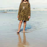 Island State Co - Leopard Long Sleeve Dress - Groms HQ