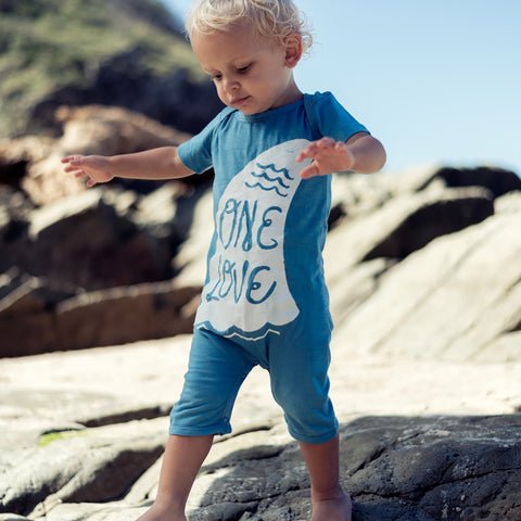 Island State Co - One Love Onesie In Blue - Groms HQ
