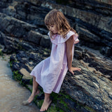 Island State Co - Ruffle Dress in Blush - Groms HQ