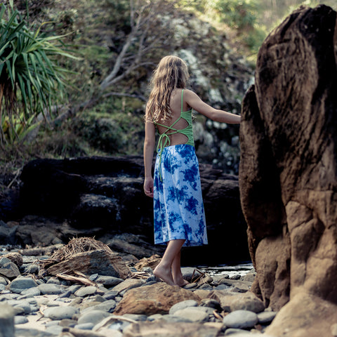 Island State Co - Sky 3/4 Maxi Skirt - Groms HQ