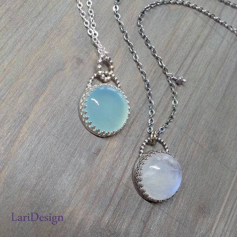 Sterling silver pendants with chalcedony amethyst moonstone sterling silver pendants with chalcedony amethyst moonstone labradorite with sterling silver chain aloadofball Gallery