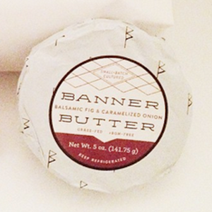 Banner Butter - Balsamic Fig & Caramelized Onion available at H&F Bread Co
