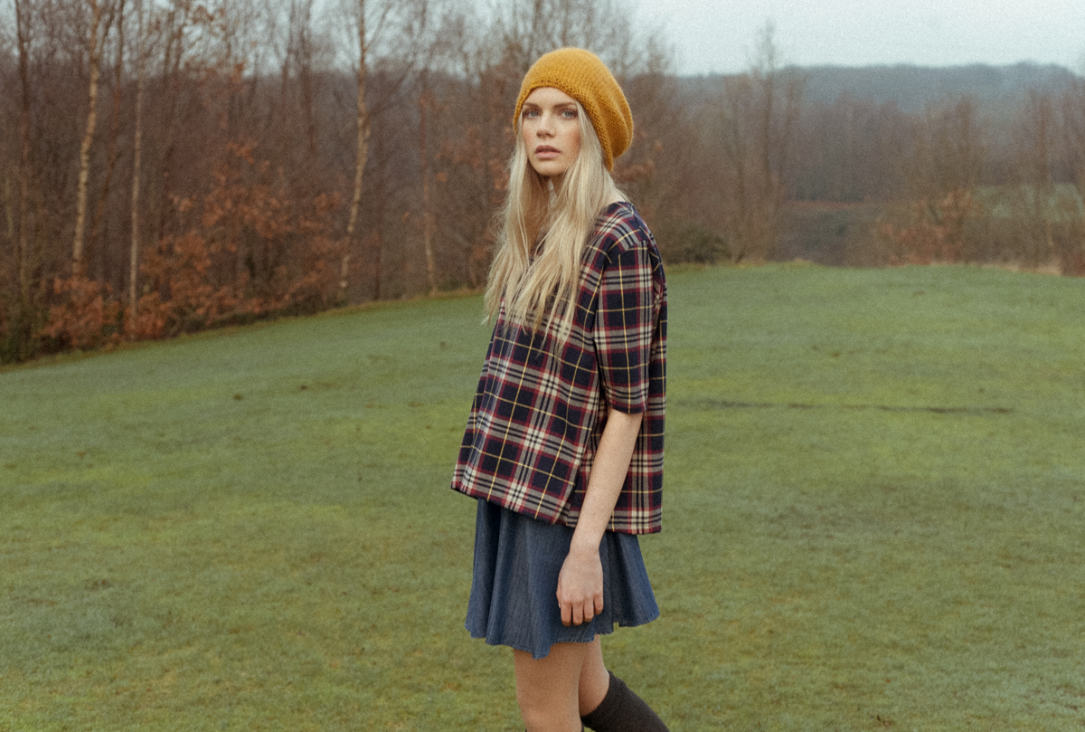 AW16 | ELLA Organic Cotton Tartan Top