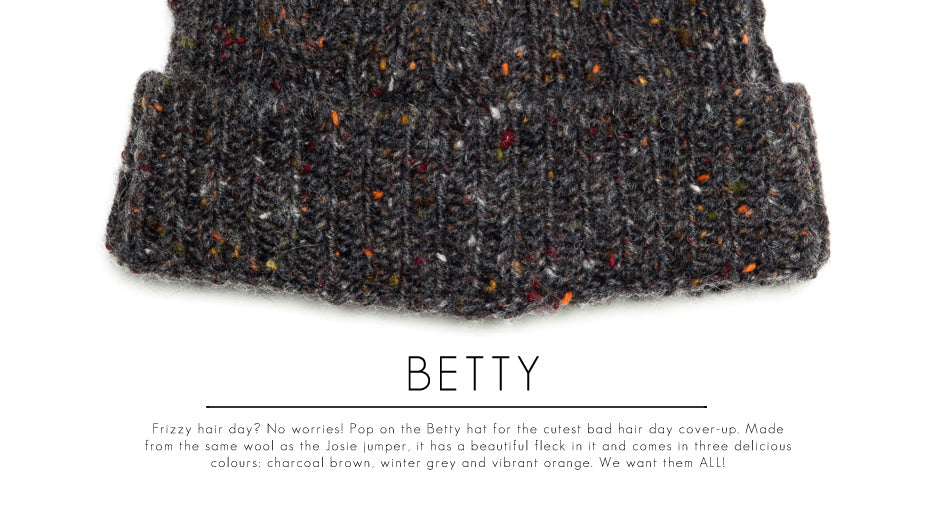 BETTY-Luxury-Chunky-Knitted-Wool-Flecked-Beanie-Hat