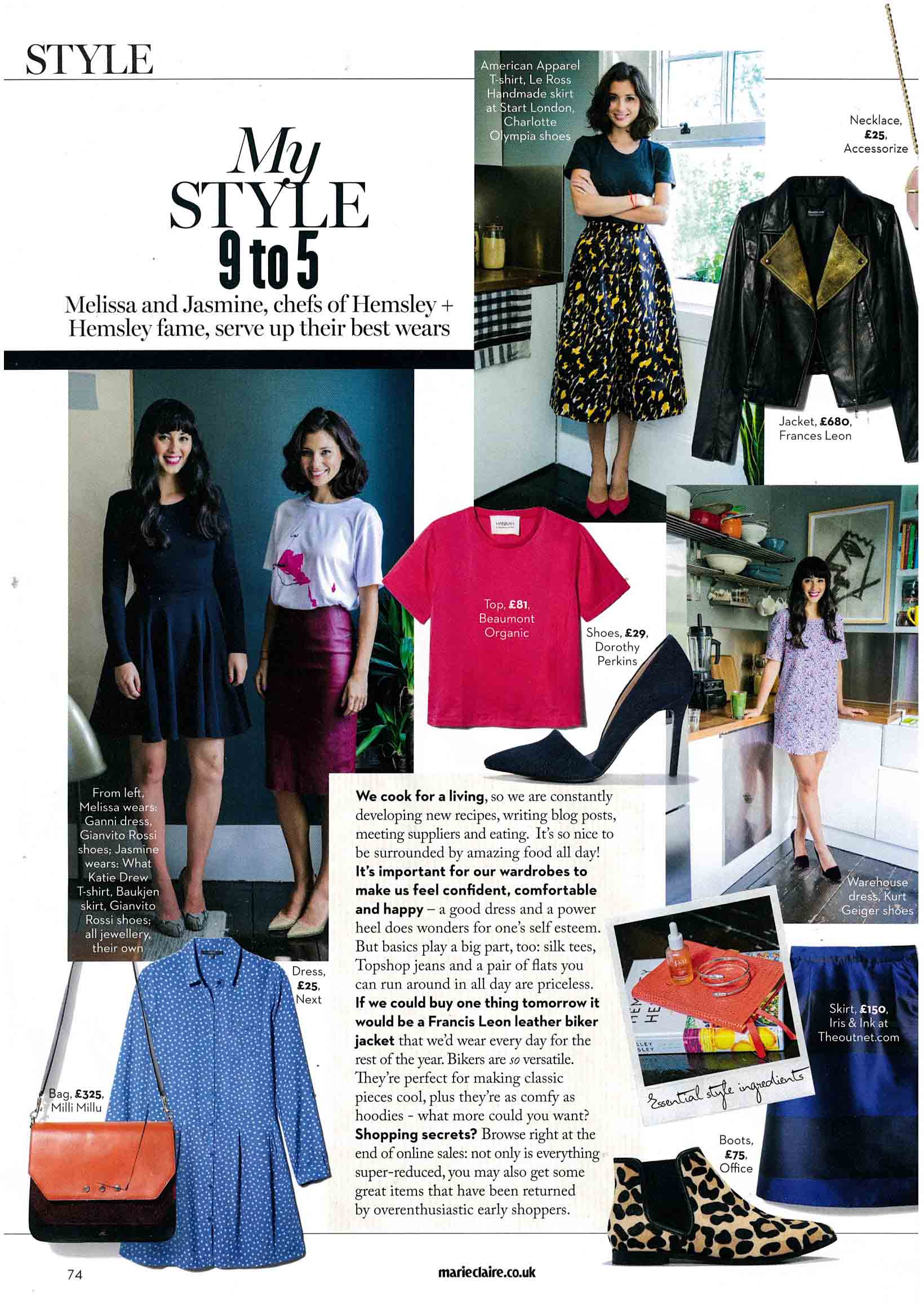 Marie Claire Magazine Coverage Sept 2014