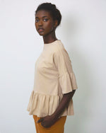 Ellice Organic Cotton Top In Sand