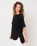 Andrea Organic Cotton Tunic In Black