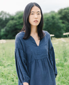 Andreia-May Linen Dress In Midnight
