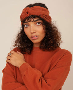 ANJALINA Organic Cotton Headband In Cinnamon