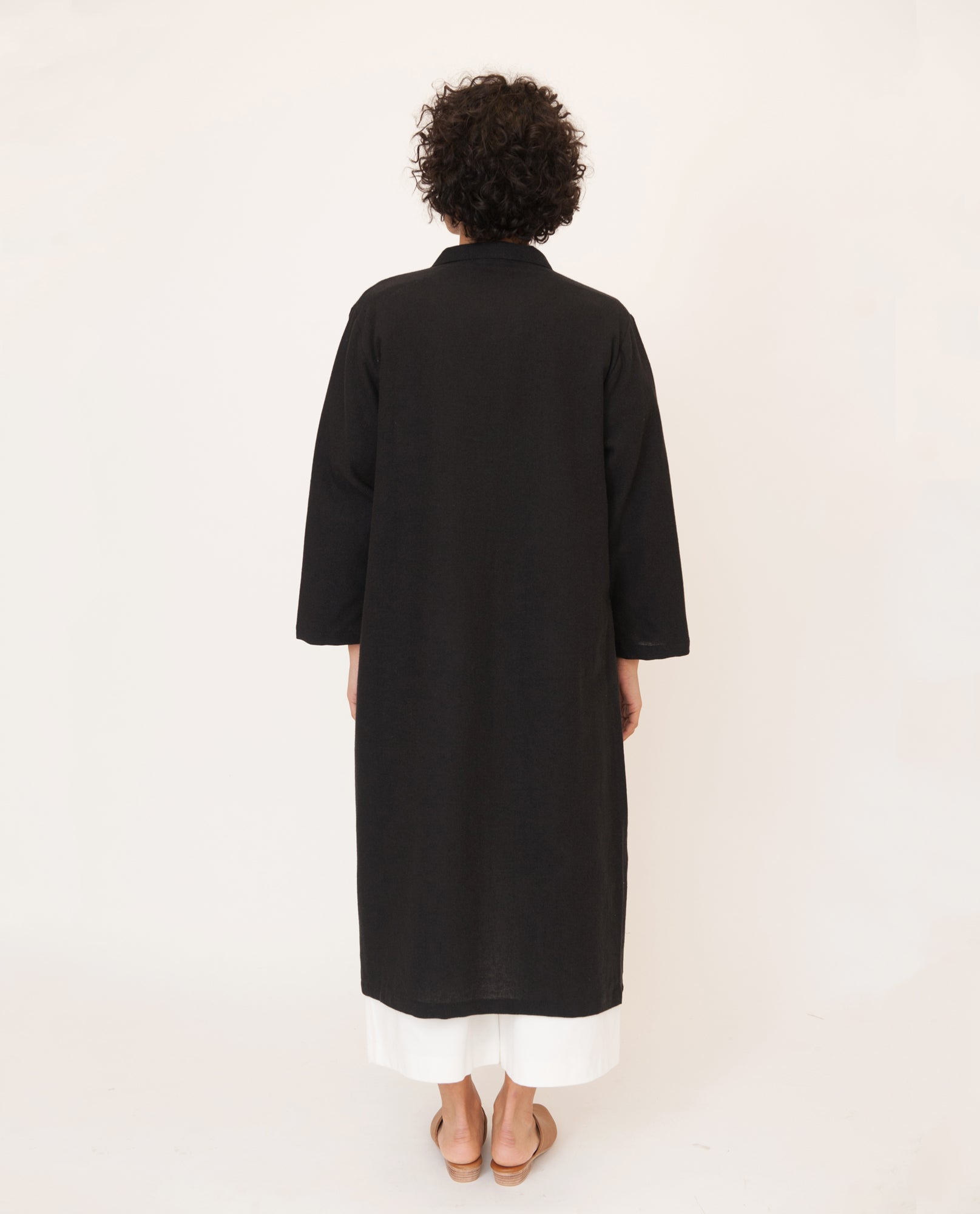 ABBEY Linen Jacket In Black