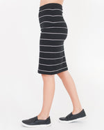 ADDISON Organic Cotton Skirt In Black And White