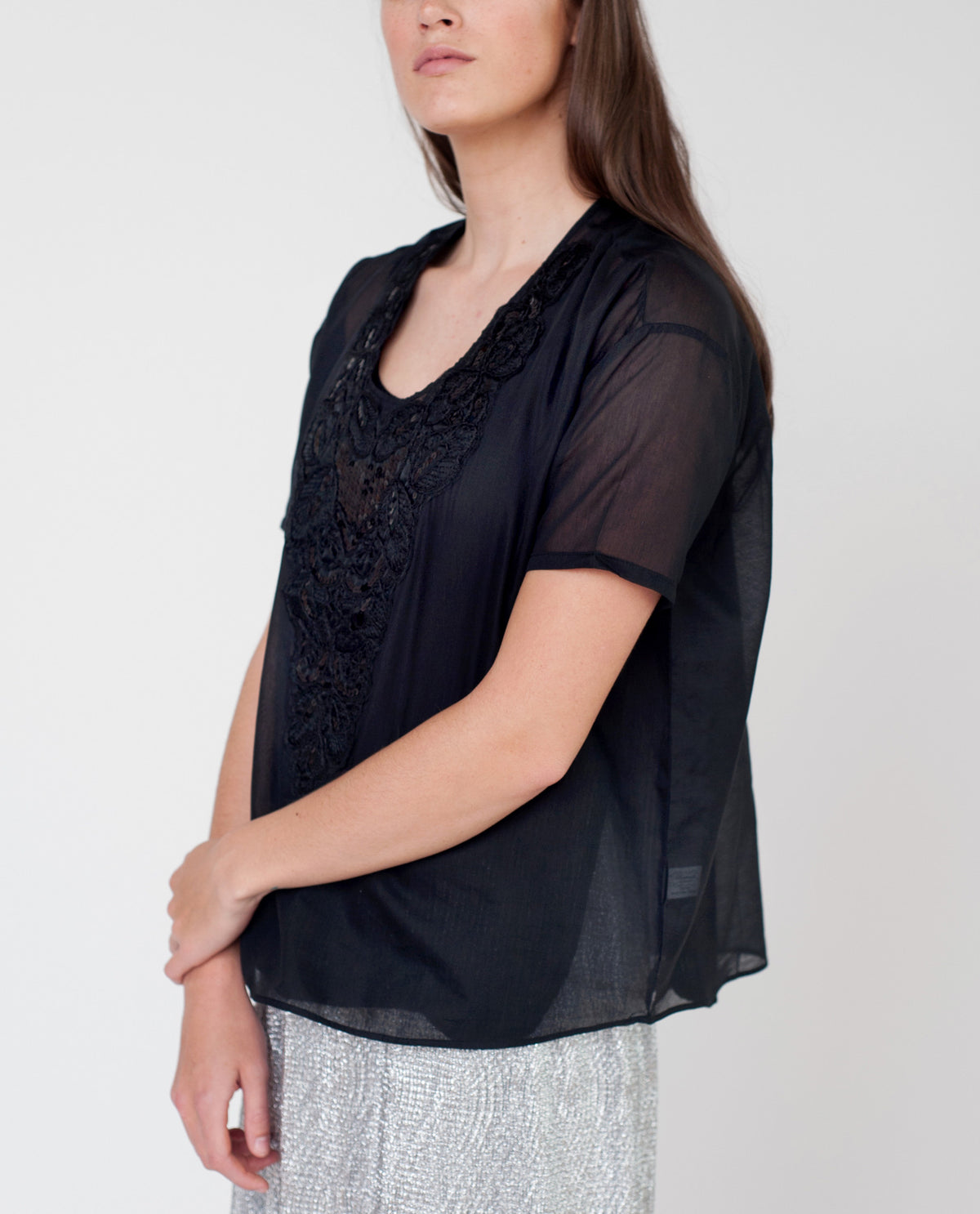 ADELLE Cotton And Silk Blouse