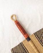AFRYEA Straw Hand Fan With Leather Handle