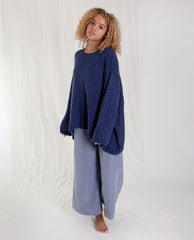 ALESSANDRA Cotton Jumper In Blue