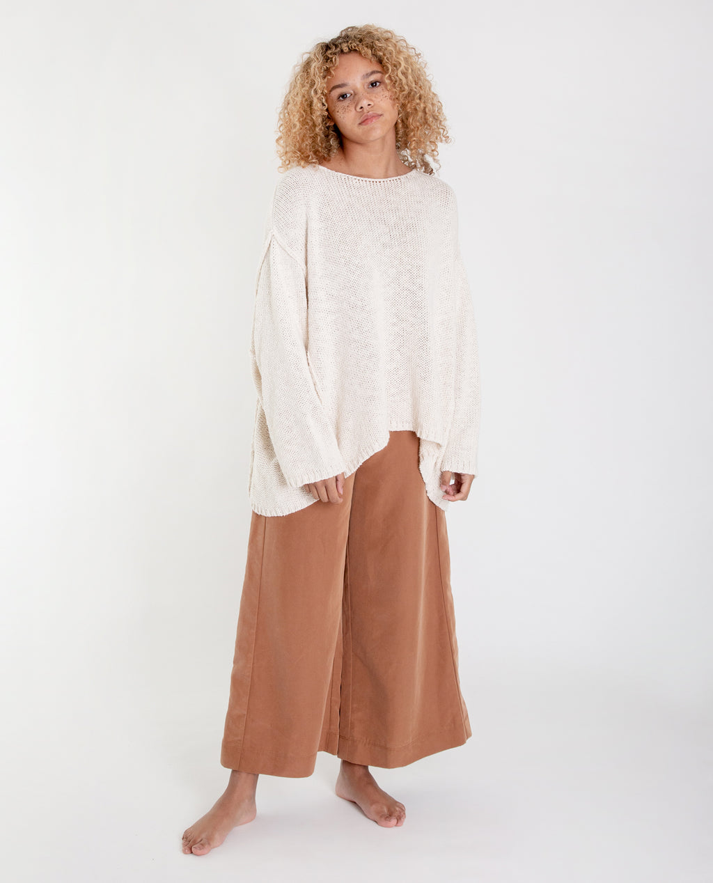 ALESSANDRA Cotton Jumper In Ecru