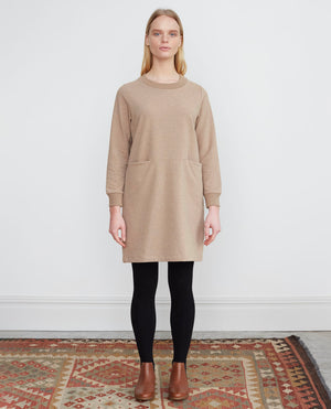 ALEXIS Organic Cotton Dress In Stone Marl