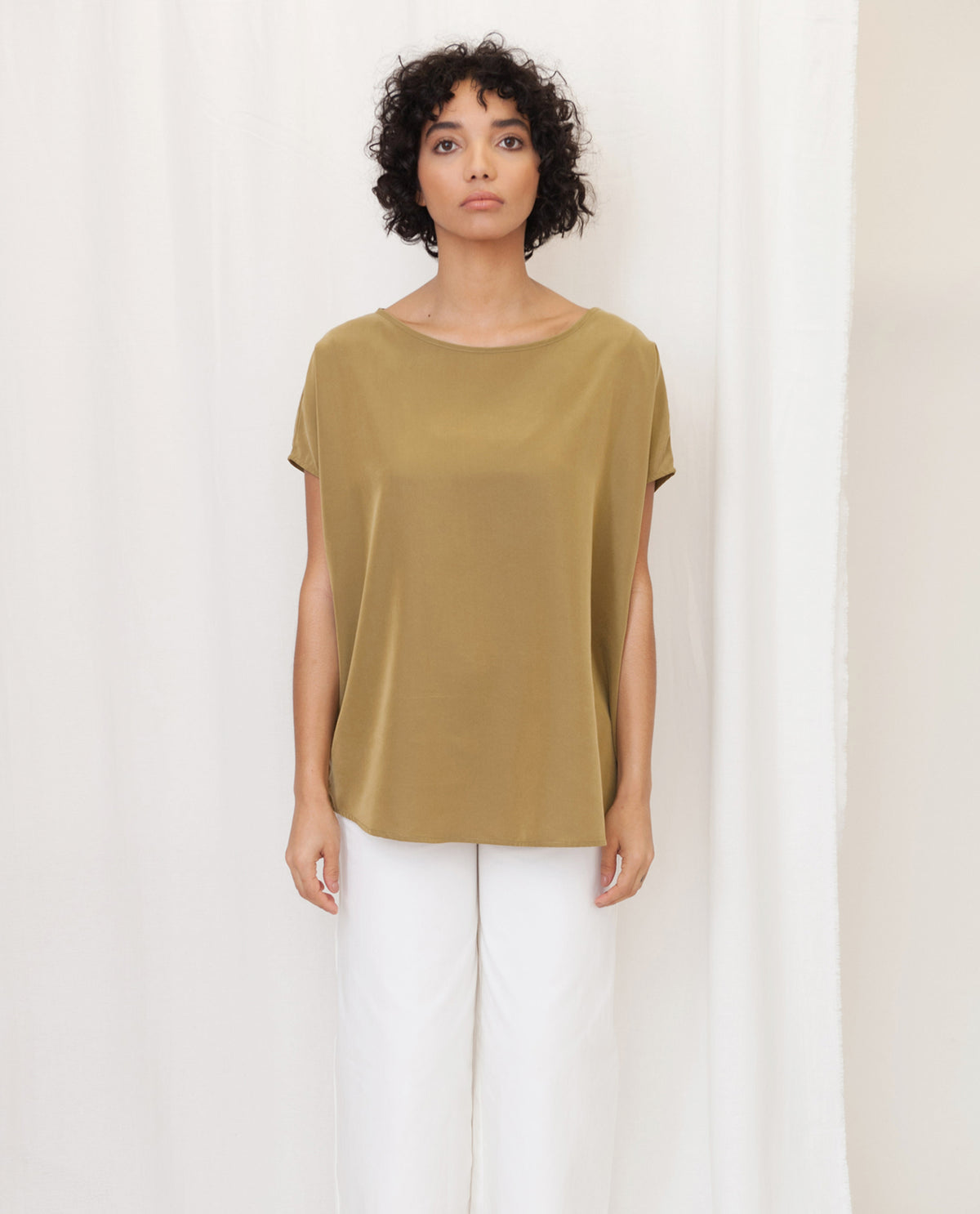ALINE Modal Top In Khaki