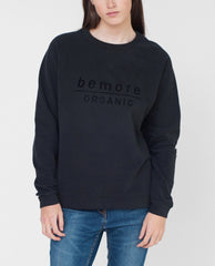 ALLY Organic Cotton Print Sweatshirt In Black