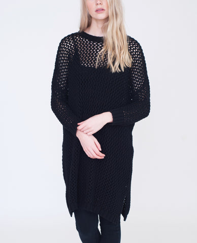 AMANDA Cotton Loose Knit Jumper Dress