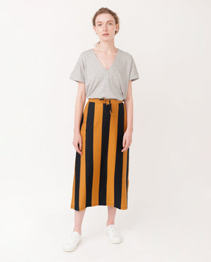 ANA-SOPHIA Organic Cotton Skirt In Navy And Rust