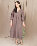ANDREIA-MAY Linen Dress In Khaki