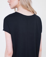 AURORA Lyocell And Cotton Top In Black