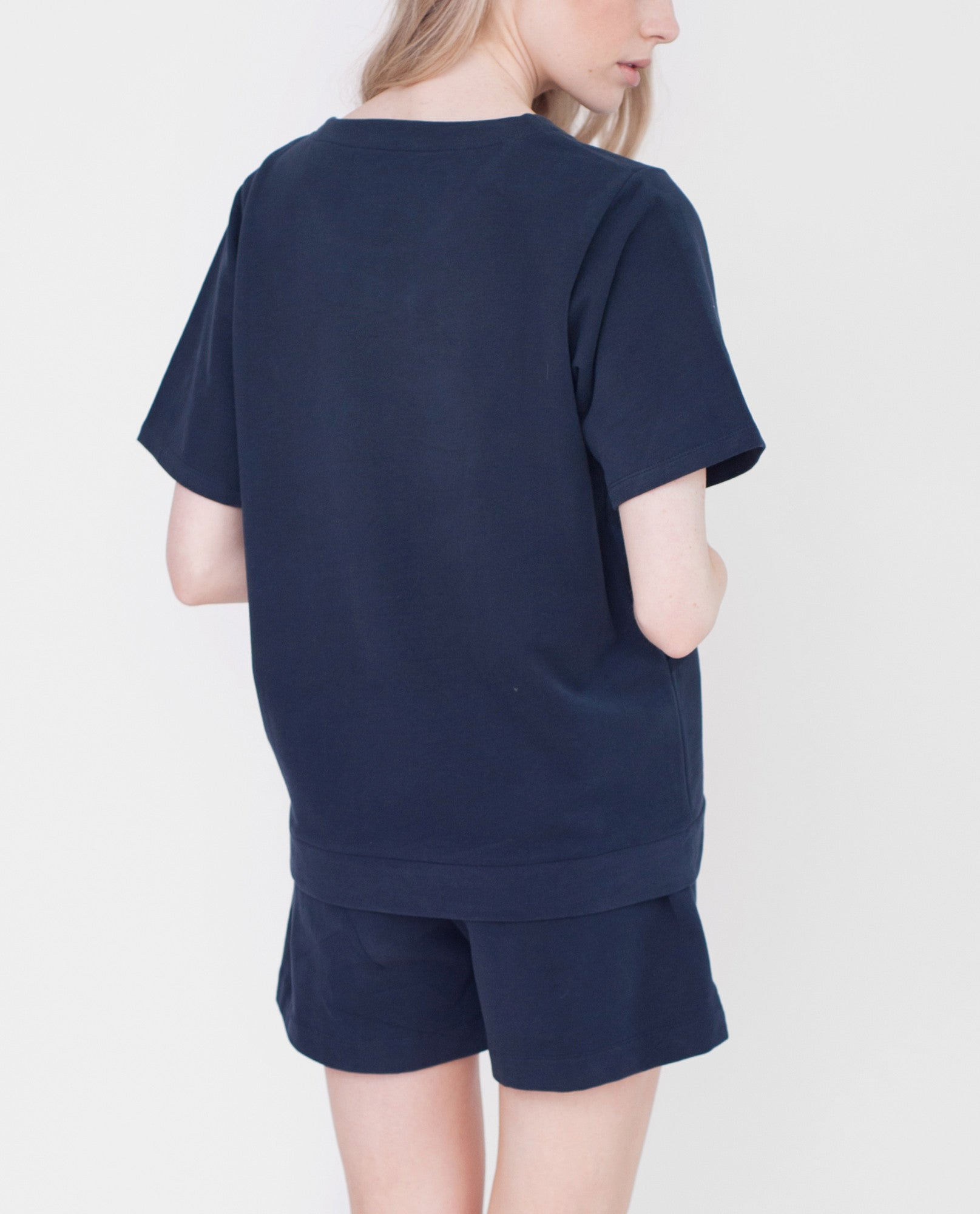 AVA Organic Cotton Top In Navy