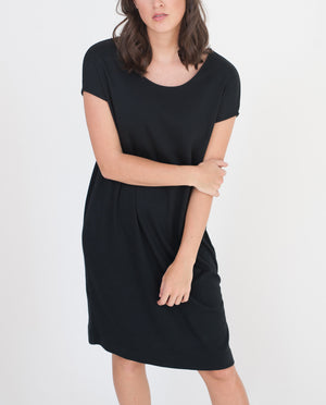 AZALEA Lyocell And Cotton Dress In Black