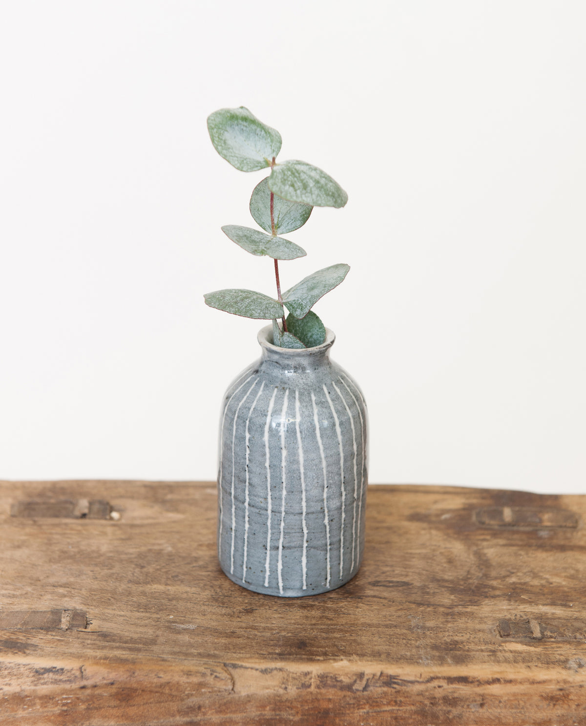 Blue Stripe Bud Vase