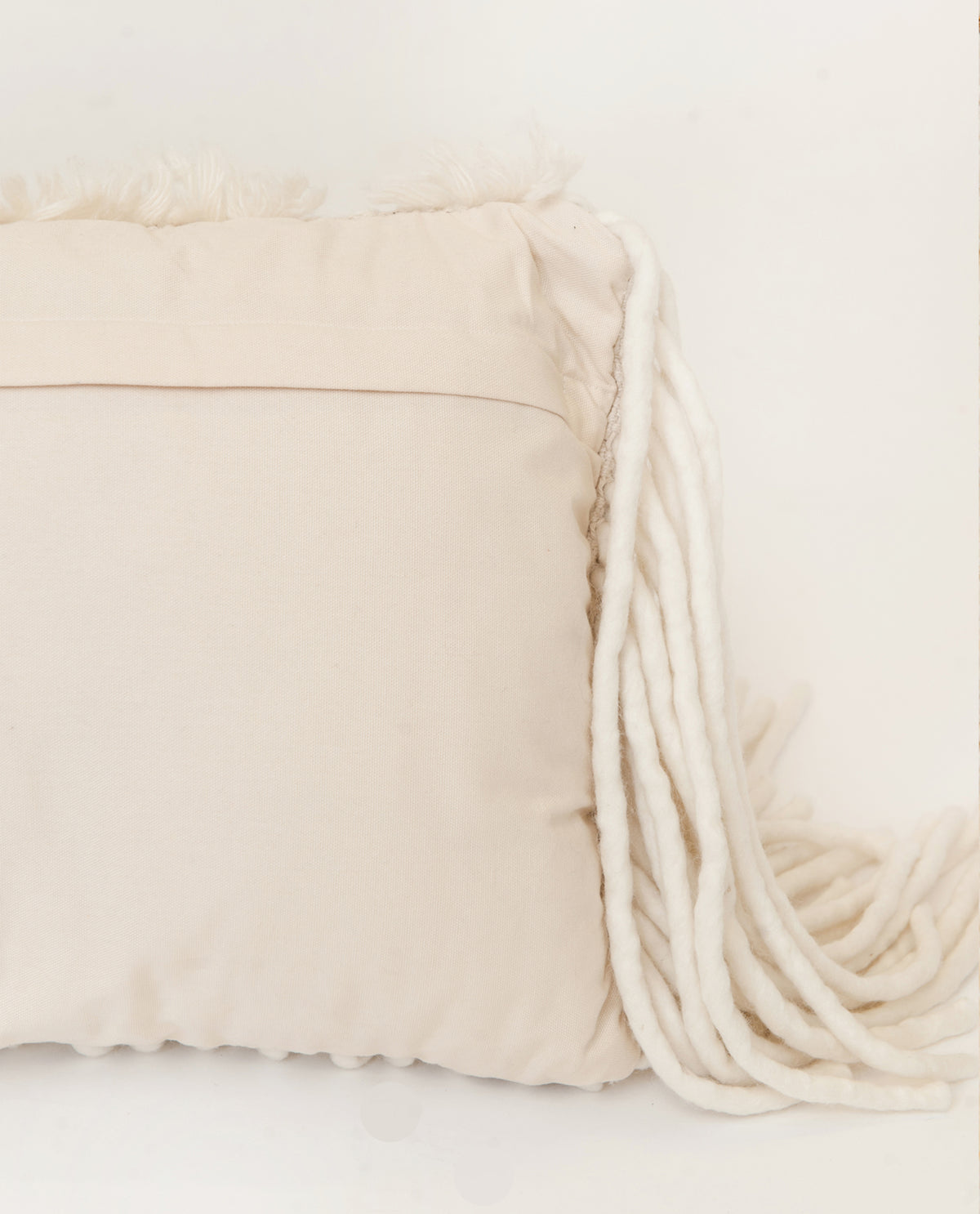 Wool Fringe Cushion